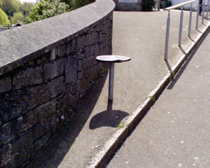 Seat halfway up hill in Falmouth to have a rest on when you're knackered