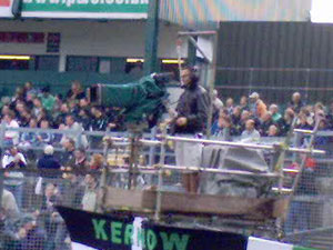 Sky cameraman at Home Park