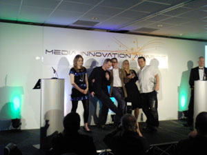 Team i-DAT collecting the multi-platform award